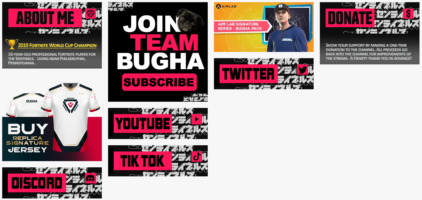 Bugha-Twitch-Panels