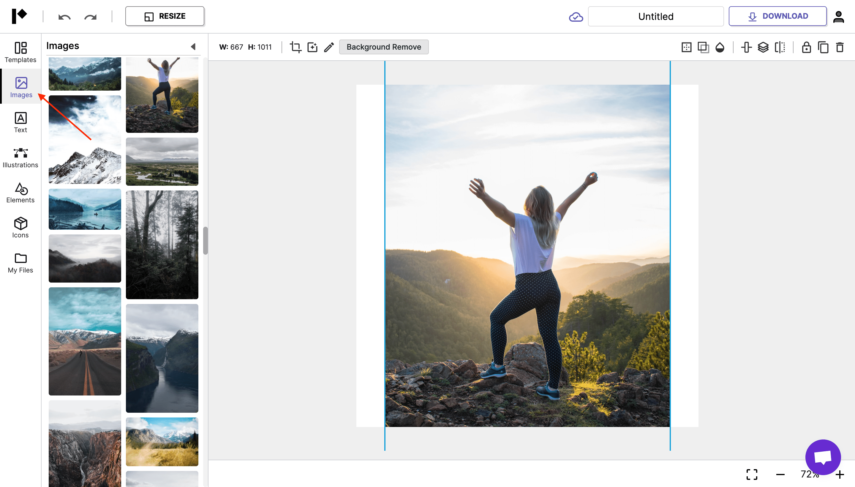 Pixelied editor images