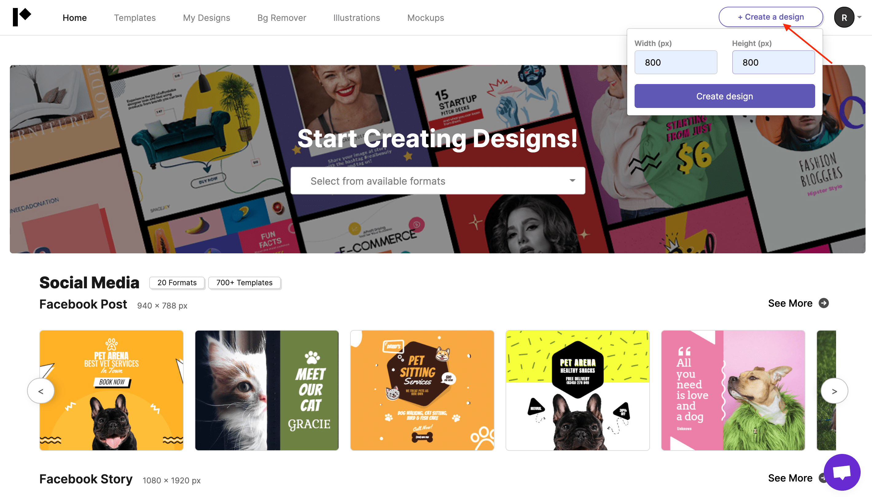 Pixelied home page