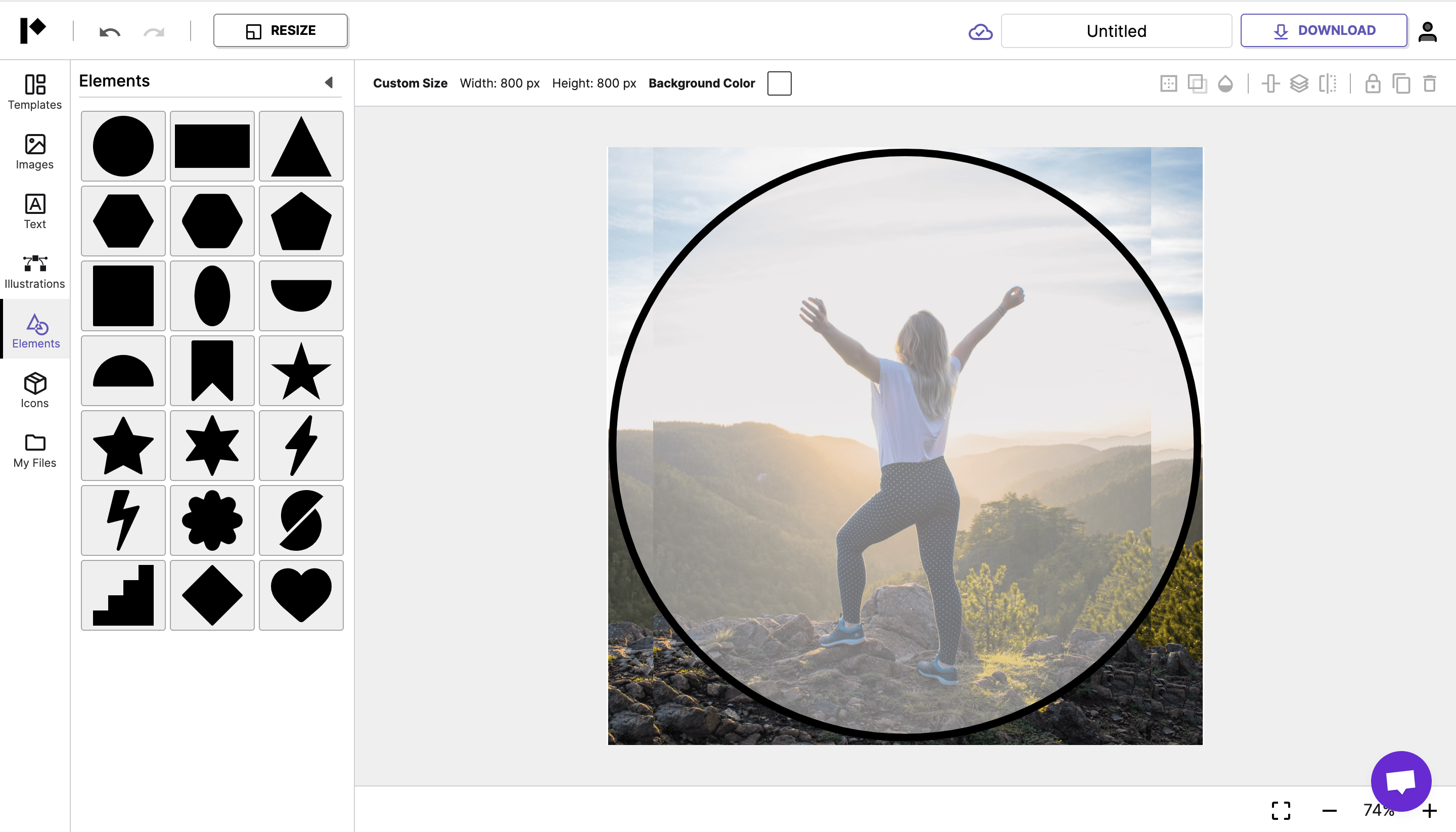 Place the circle to know how the end result will look