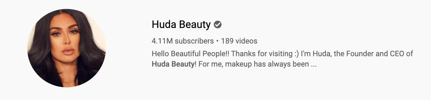 Hude Beauty Youtube