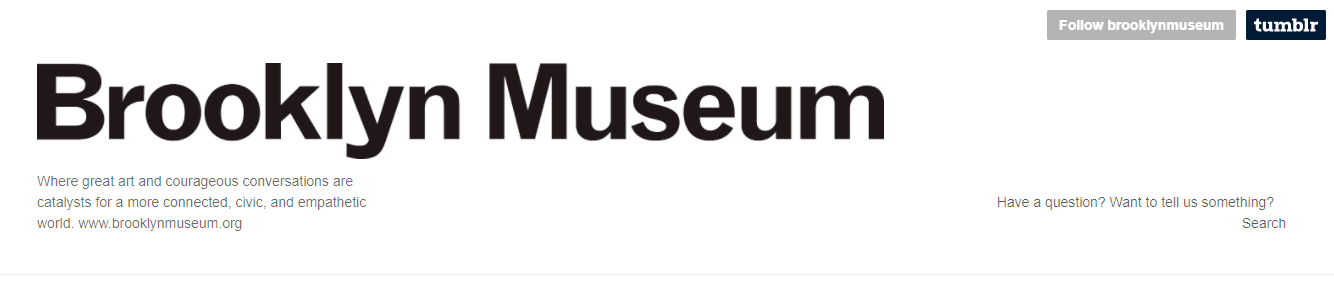 Tumblr header example by Brooklyn Museum