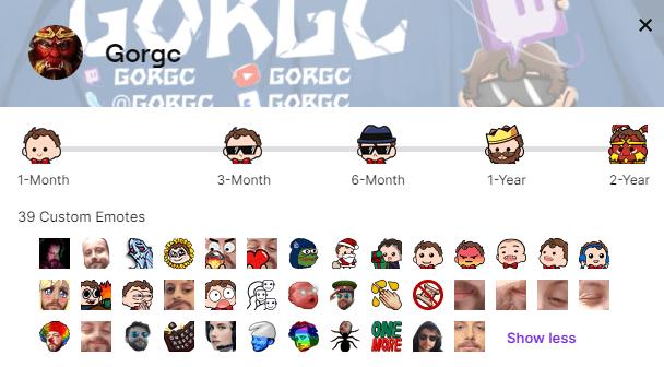 Gorgc custom emotes screenshot