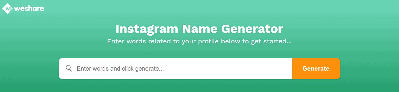 Weshare-Instagram-Name-Generator