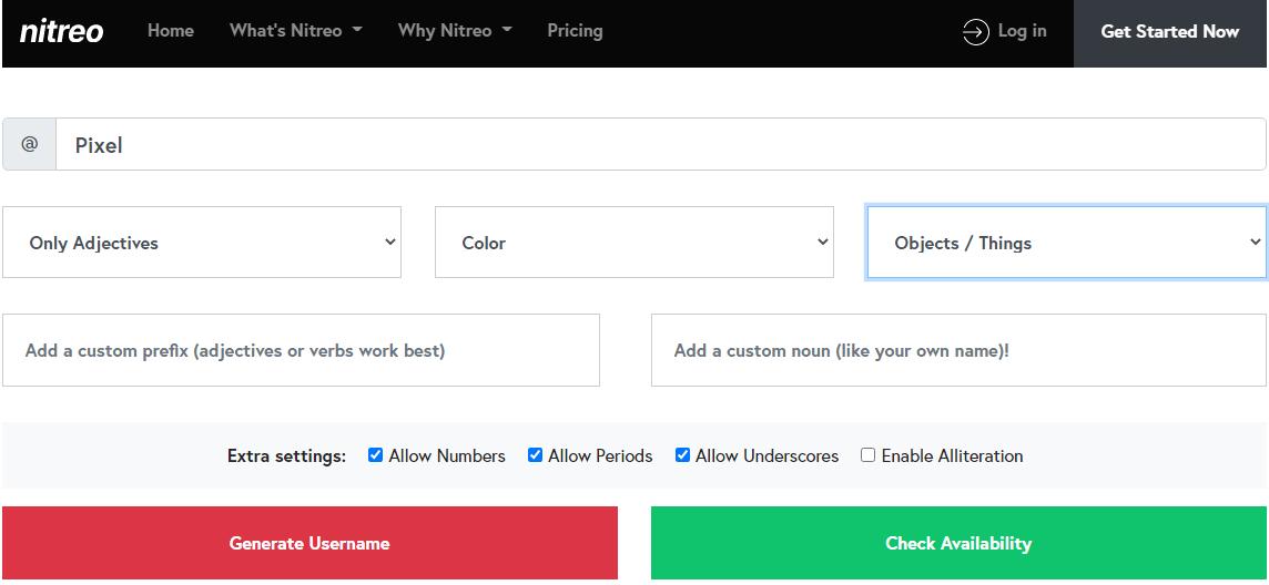Nitreo-Username-Generator
