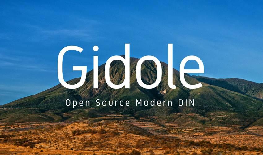 Gidole-minimalist-font