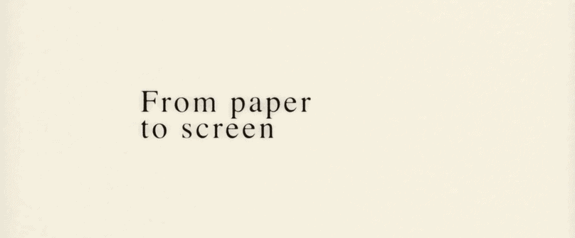 From Paper to Screen Kinetic Typography