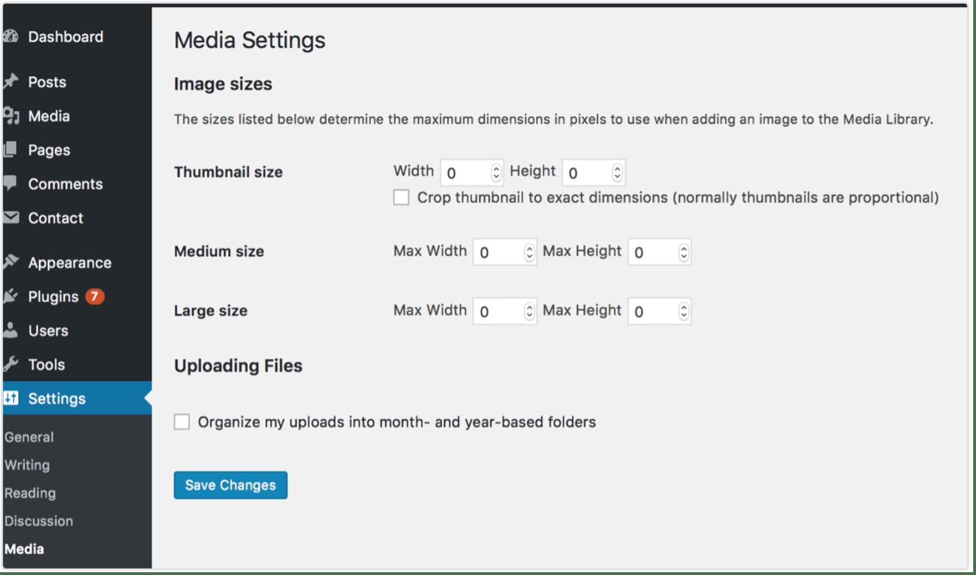 WordPress-Image-Size-Configuration